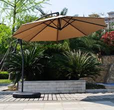 Offset Patio Umbrellas Clearance by Kontiki Shade U0026 Cooling Offset Patio Umbrellas 10 Ft Signature