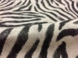 zebra animal print fabric linen cotton blend curtains