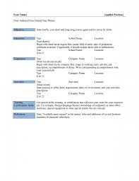 Microsoft Word 2010 Resume Template Basic Resume Template Resume For Your Job Application