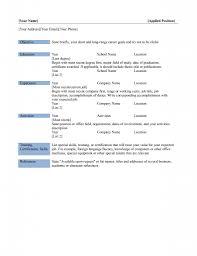 Modern Resume Sample Basic Resume Template Resume For Your Job Application