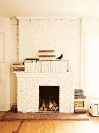 painted brick fireplace modern painted brick fireplaces hgtvus