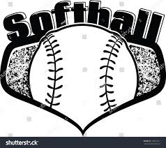halloween softball background black white softball shield stock vector 143057221 shutterstock
