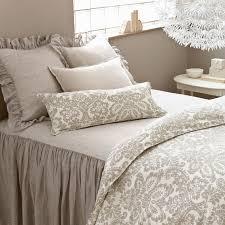 Grey Bedspread Pine Cone Hill Savannah Linen Chambray Dove Gray Bedspread