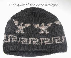 cowichan hat knitting pattern cowichan style eagle hat knit hat toque