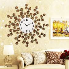 Decorative Wall Clocks For Living Room Best Large Decorative Wall Clocks Decorating Large Decorative