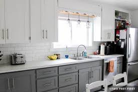 how to paint cabinets grey painting kitchen cabinets white and gray home design ideas