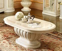 Ivory Coffee Table Camel Leonardo Leonardo Ivory Finish Italian Coffee Table