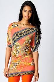 boohoo clothes annabelle tropical animal print bandeau dress 15 00 www boohoo