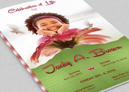 baby funeral program child funeral program template on behance