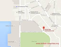 map of suva city high commission in suva consulate
