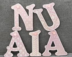 shabby chic letters etsy