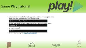 tutorial java play how to play at work a play framework tutorial