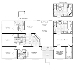 bath floor plans the hacienda iii 41764a manufactured home floor plan or modular