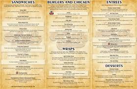 menu washington township otts restaurants otts restaurants