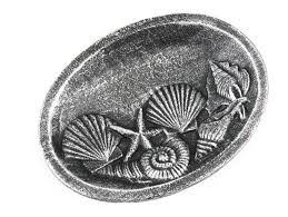 buy antique silver cast iron decorative seashell bowl 8 inch sea