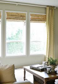 bamboo roman shades in the family room at the picket fence