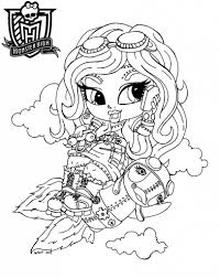 free printable monster high coloring pages for kids throughout