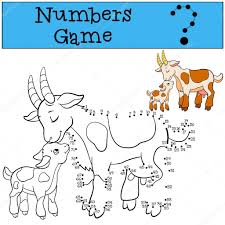 educational games for kids numbers game mother goat with baby