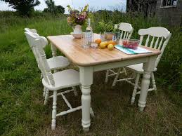 vintage table and chairs antique pine farmhouse table and 4 chairs painted vintage antique