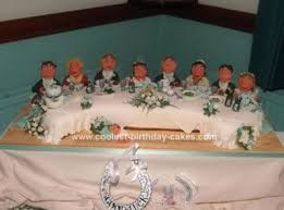 coolest top table wedding cake