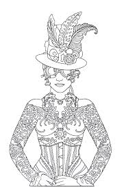 steampunk printable coloring book page easy to medium difficulty