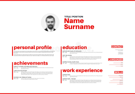 Resume Template Cool Cv Resume Template With Nice Typography Stock Illustration