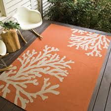 Best Outdoor Rugs Patio Jaipur Rugs Grant Bough Out 8 X 8 Indoor Outdoor Rug Orange
