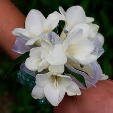 White Corsages For Prom White Freesia Corsage Jpg