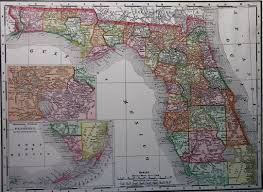 Map Of Flirida Map Of Florida 1900