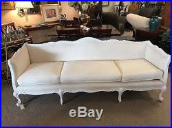 French Provincial Sofas Vintage Couch Canvas French Provincial Sofa Reupholstered Oatmeal