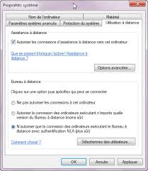 connexion bureau à distance windows xp activer le bureau à distance dans windows seven astuces astuces