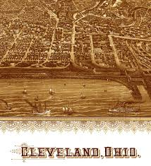 Cleveland Map Cleveland Ohio In 1887 Bird U0027s Eye View Map Aerial Panorama