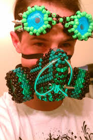 bead masks a few of my creations i make kandi gas masks cuf tie s and