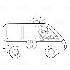 cartoon car drawing hd coloring page outline of cartoon doctor with ambulance car