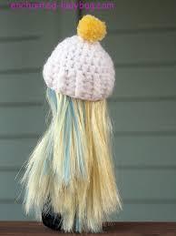 crochet monster doll pom pom hat pattern