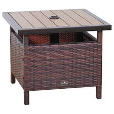 Patio Table With Built In Heater Shademobile Rolling Umbrella Base With Table Shelf Free Shipping