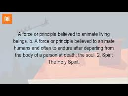 what is the meaning of spirit