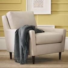 West Elm Armchair Paidge Chair Down Blend Marled Microfiber Ash Gray Cone Pecan