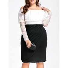 lace color block dress cheap casual style online free shipping at