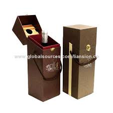 Wine Gift Boxes Wine Gift Boxes Brown Color Matte Lamination Silver Stamping