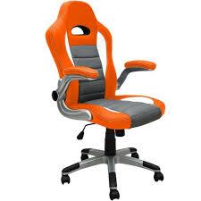 fauteuil de bureau orange chaise de bureau orange fauteuil et gris baquet pu pas cher