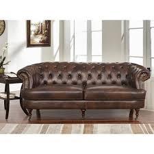 montego sofa abbyson montego top grain leather tufted sofa free shipping