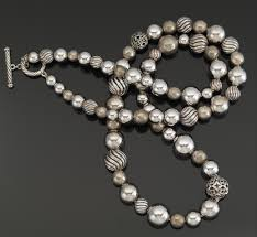 large silver bead necklace images A david yurman large sterling silver bead necklace 10 25 13 jpg