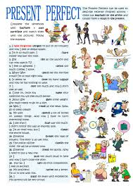 Participle Worksheet Present Perfect Interactive And Downloadable Worksheet Check Your