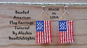 Who Invented The United States Flag Beaded American Flag Earrings Tutorial Youtube