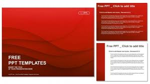 waves of red powerpoint templates