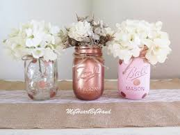 Pink And Gold Centerpieces by Pink And Gold Mason Jar Centerpieces Baby Shower Mason Jars