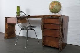 Midcentury Modern Finds - vintage wood slab desk 1800 midcentury modern finds mid century