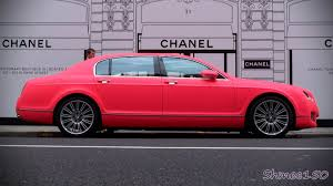bentley pink matte fluorescent pink bentley flying spur speed details sl65