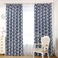 Geometric Pattern Curtains Casual Geometric Pattern Blue Polyester Insulated Simple Curtains